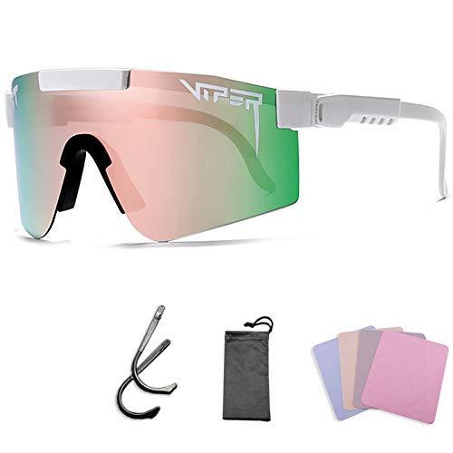 Gafas de sol Pit Viper deportivas, al aire libre, cortavientos, ciclismo, polarizadas, UV400 Eyewear para mujeres y hombres