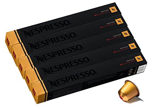 NESPRESSO ネスプレッソ カプセル コーヒー ヴォリュート・デカフェ 1本10カプセル×5本セット [並行輸入品]