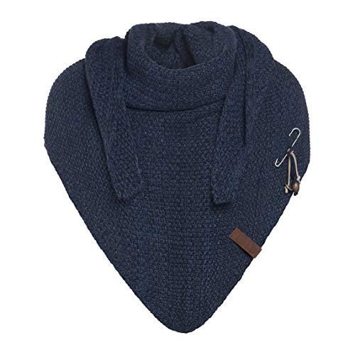 Knit Factory Damen Dreieckschal, Dreiecktuch, Herren Schal, Bandana, Coco, Schal:Jeans-Navy