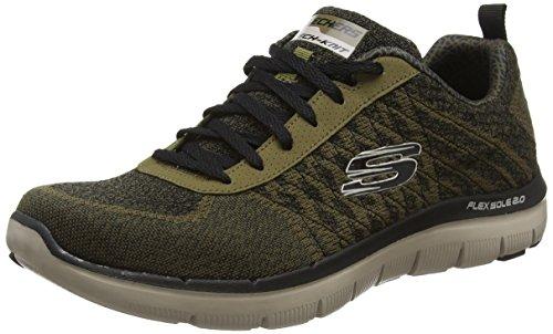 Skechers Skechers Herren Flex Advantage 2.0Golden Point Sneakers, Grün (Olv - Olive), 6 UK 39 1/2 EU