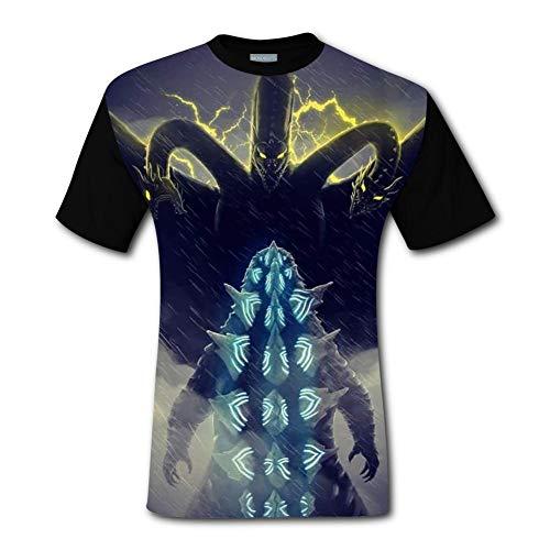 Godzilla 2 King Monsters Poste Short Sleeve Crew Neck T Shirt for Men Black