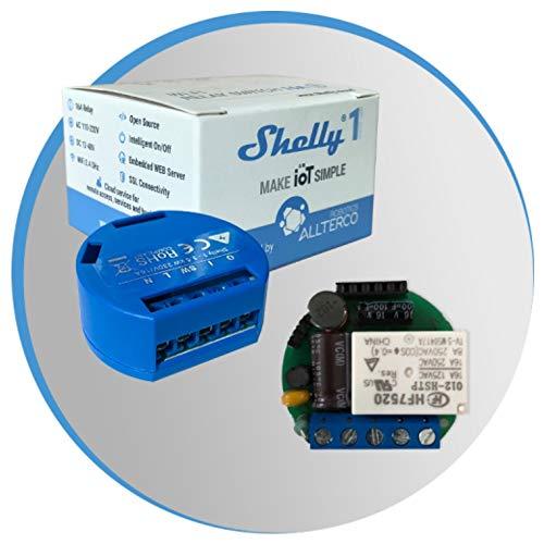Shelly 1 Domotica Wi-Fi compatible con Alexa, Google Home, IFttt