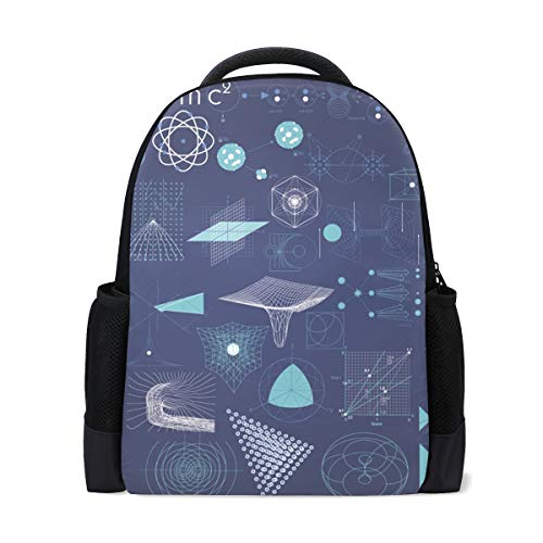 Mochila escolar, símbolo de elemento, geometría, colegio, hombros, bolsas de libros escolares, mochila para ordenador portátil, para niños y niñas
