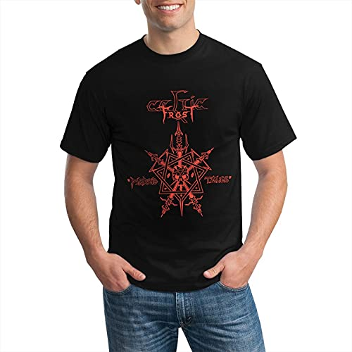 CelticFrost Logo T Shirt Men Casual Summer T-Shirts Top Black