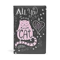 バララ(La Rose) ブックカバー 文庫 a5 皮革 レザー おしゃれ かわいい ネコ 猫柄 英字柄 絵画 文庫本カバー ファイル 資料 収納入れ オフィス用品 読書 雑貨 プレゼント