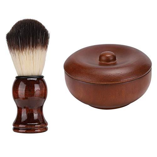 Scheerschuim Bowl Bowl Professional voor mannen Beste cadeau voor Vaderdag voor thuis(Hu brush + soap bowl, blue)