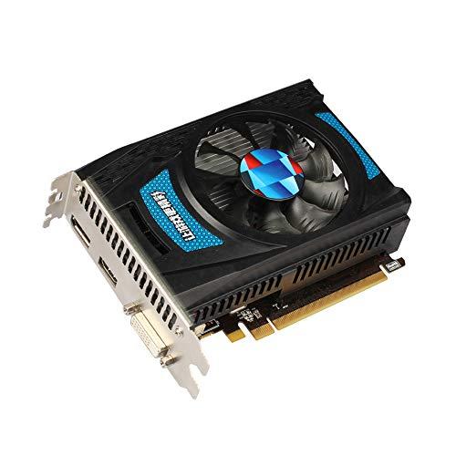 Tarjeta gráfica de juego 4K, tarjeta de video de 6000 MHz Radeon RX 550 GPU 4GB GDDR5 128bit Gaming Desktop Computer PC Video Graphics Cards, compatible con DVI-D/HDMI/DP (azul)