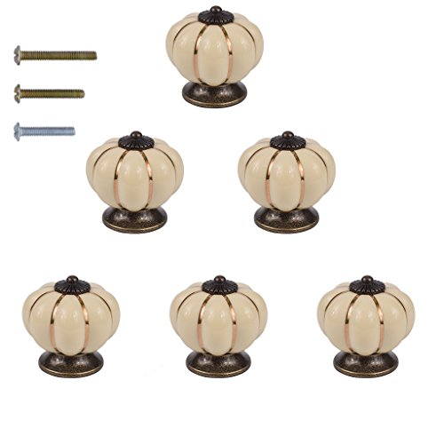 Ivory Ceramic Knobs - 8