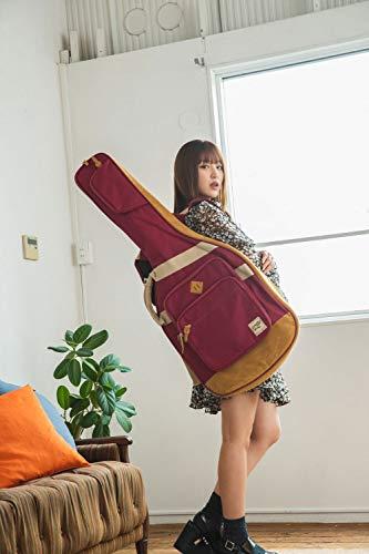 "Ibanez""個性と遊び心""がコンセプトのエレキギター用バッグ保護クッション装備(ワインレッド)IGB541-WR"