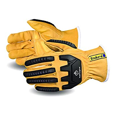 Superior Goatskin Leather Safety Work Gloves - Anti-Impact Backing Hand Protection - Oil and Water Repellent (378GKVSB - 1 Pair) Size XX-Large