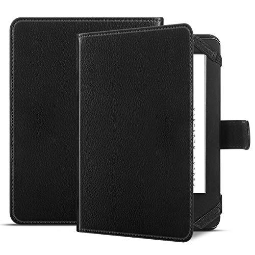 QiuKui Tab Funda para DIGMA S683G E-Book, Funda magnética de Cuero PU para DIGMA 6 Pulgadas DIGMA E654 E63S R63S R63W E61M R61M (Color : Negro)