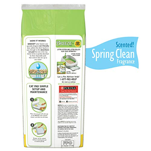 Purina Tidy Cats Breeze Spring Clean Cat Pads Refill Pack - 10-Count Pouches