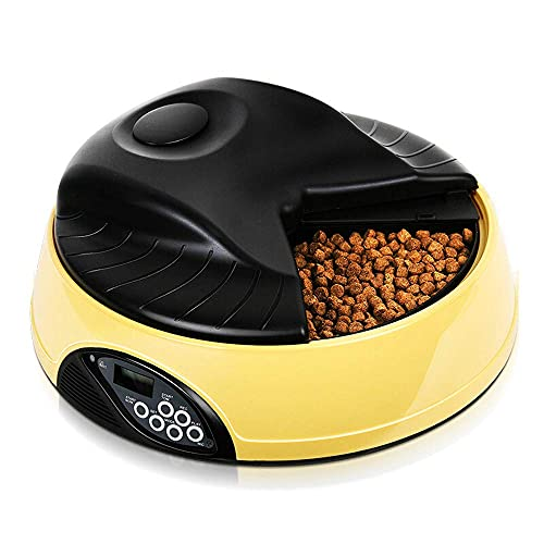Cat Food Dispensers Automatic Food Dispenser Up to 4 Dry and Wet Foods Per Day Can Be Programmed with Led Digital Timer Programmable Cat Food Machine.