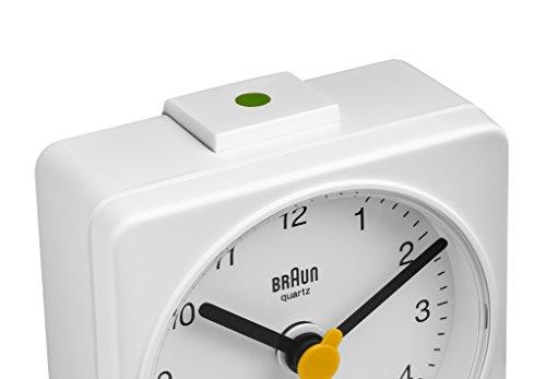 Braun BNC002WHWH Classic Analog Quartz Alarm Clock