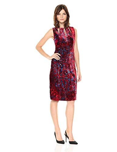 Elie Tahari Women's Jemra Dress Print, Wild Currant, 10