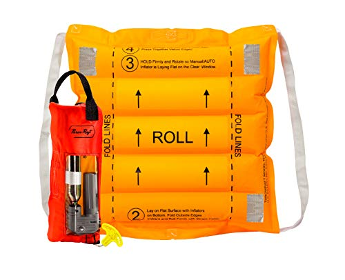 ThrowRaft Original TD2401 Type IV Inflatable Throwable PFD, USCG Approved