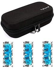 Vianber Insulin Draagbare Cooler Case met Temperatuur Display EVA Hardshell Waterdichte Medische benodigdheden voor De Diabetische met 3 Ice Packs Black + 3 Ice Pack