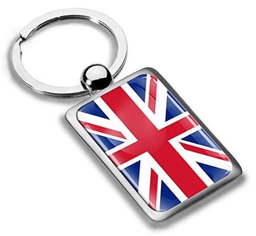 Skino 3D Metaal UK Union Jack Groot-Brittannië Vlag Sleutelhanger Sleutelhanger Accessoires Mannen Vrouwen Sleutelhanger Gift KK 216