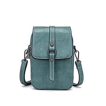 Women Vintage Crossbody Phone Bag Small Messenger Shoulder Bag Cash Handbag Wallet Purse