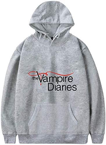 Shichangwei Mens Vampire Diaries Print Hoodie Long Sleeve Pullover Unisex Streetwear for Men Women Teen
