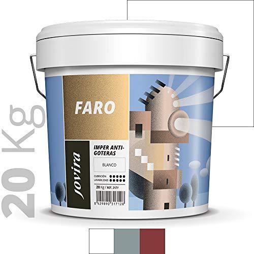 ANTIGOTERAS ELASTICA, pintura de terrazas evita filtraciones en todo tipo de cubiertas y terrazas.(20 KG, BLANCO)