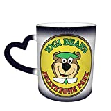 taza de cafe Cartoons Y-O-Gi Bear Heat Sensitive Color Changing Color Cup Changing Mug In The Sky Magic Funny Art Coffee Mugs Ceramic Cup Personalized Gifts For Family Lovers Friends