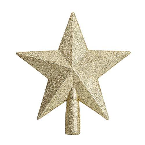 Molinter - Puntale per albero di Natale a forma di stella, decorazione natalizia