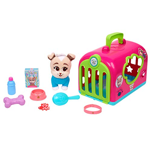 Puppy Dog Pals Keia Groom & Go Pet Carrier Toy, Pink/Green/Blue (94146)