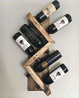 Ahşap Şaraplık 6 Şarap Kapasiteli Eskitme Şarap Standı 6145