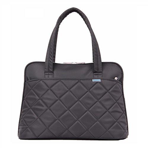 Kingsons Ladies-In-Fashion Black Laptop Bag (KS3009W)