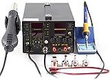 Estación de soldadura digital 3 en 1 853D YUNRUX Estación de soldadura de aire caliente 5A para teléfonos móviles Estación de desoldadura de soldar