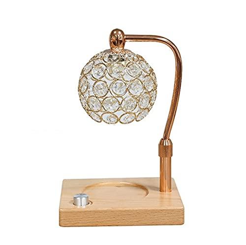 QLIGHA Lámpara de fusión de Cera de aromaterapia, lámpara de Calentamiento de Velas eléctrica, lámpara de fusión de Cera de Arriba hacia Abajo, lámpara Aurora de atenuación de Altura Ajustable