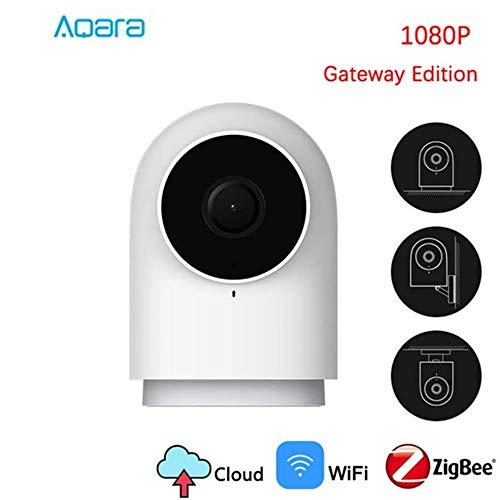 Aqara Cámara IP 1080P con Función de Puerta de Enlace, WiFi Cámara IP/Cámara de Vigilancia/Cámara Seguridad y Inalámbrica HD, Audio de Dos Vías, Compatible con iOS, Android