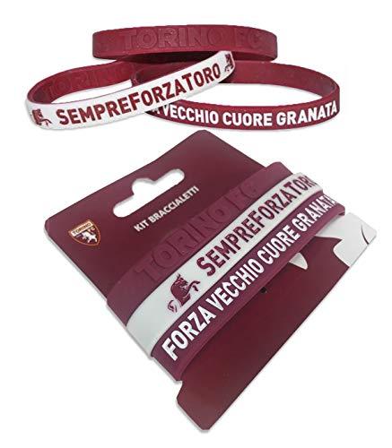 Tex family Set 3 Braccialetti Ufficiali Torino FC e Cartolina Torino È