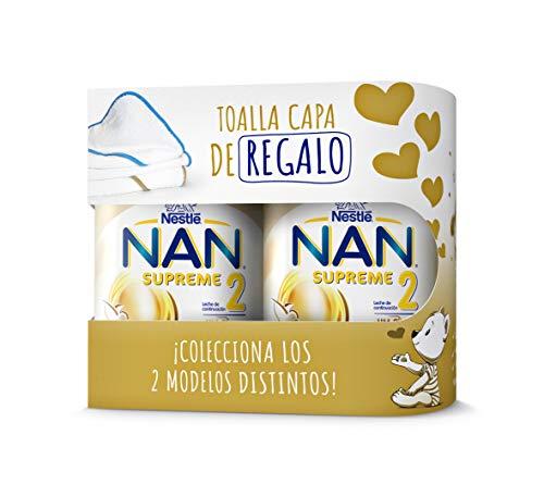 Duplo Nan Supreme 2 Con Toalla Capa de Regalo Leche de Continuación en Polvo Premium, Bote 800 Gr
