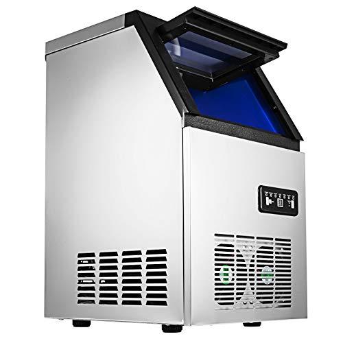 SucceBuy 230W 220V Machine à Glaçons Commerciale 50kg par 24H Commercial Ice Maker
