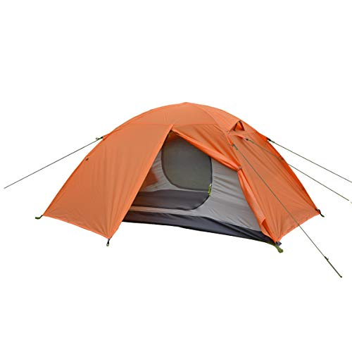 ALLBEYOND Ultralight 2-Persons 3 Season Waterproof Backpacking Tent Camping Lightweight Tent for Family,Outdoor,Hiking and Mountaineering (Orange, 2...