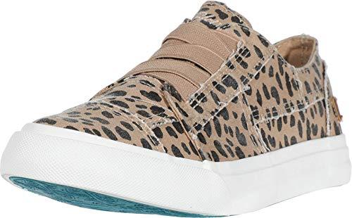 Blowfish Malibu womens Marley Sneaker, Latte Spots Print Canvas, 10 M