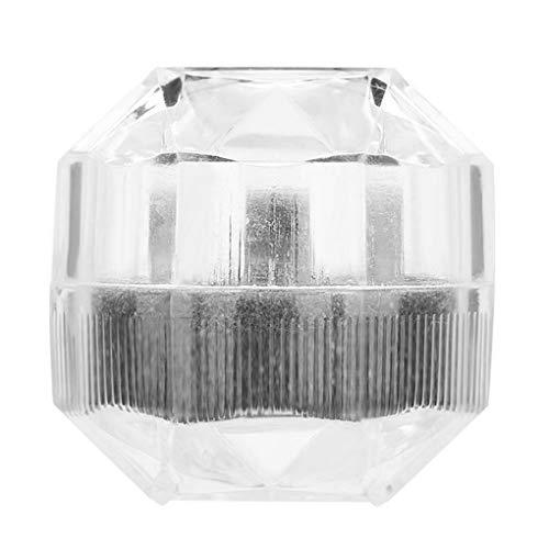 Vokmon Transparente Jewelry Box-Ring-Ohrring-Ohr-Bolzen-Speicher-Fall-weiches Kissen-Design Schmuck-Fall