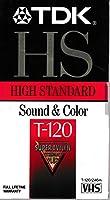 High Grade Standard VHS Videotape Cassette, 120 Minutes by TDK