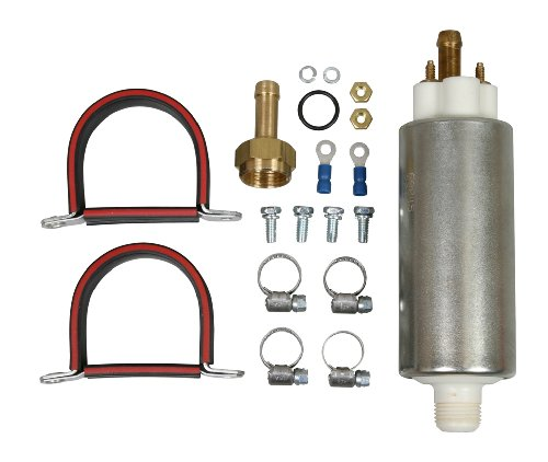 """Airtex E8845 Universal Electric Fuel Pump for Diesel Transfer Pump Rollervane, 18-30 P.S.I, 55 G.P.H, 3/8"""" Hose 12 V (Not Approved for Marine Or Aircraft Use)"""
