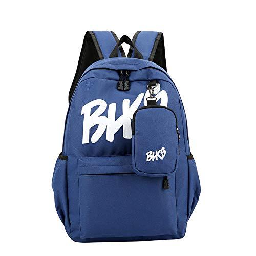Schultasche Teen Schultasche Für Mädchen Rucksack Nylon Frauen Schule Teenager Harajuku Freizeit Bookbags Brief Große Tasche Schule Schwarz