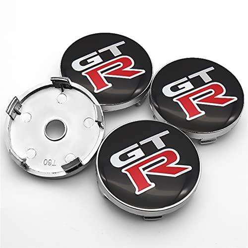 RHGEIUCY Accesorios para automóviles 4pcs 60mm 3D Wheel Center Hub Cover Logo Etiqueta Etiqueta Calcomanías Centro Hub Cover para GTR-Nissan- Dayz 370Z GT-R Nota (Color : A)