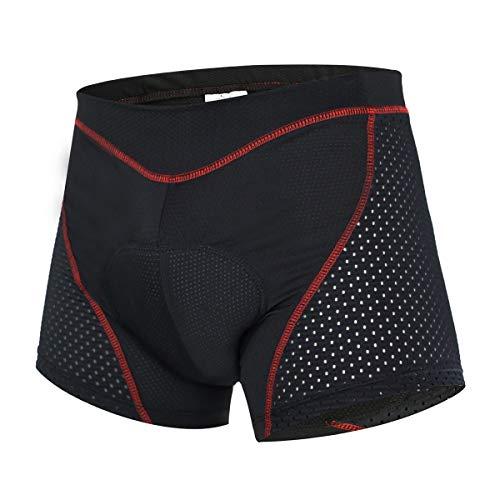 SUUKAA Pantalones Cortos de Ciclismo para Mujer/Hombres Unisexo Ropa Interior Deportiva con Acolchado Elástico Transpirable de Gel 5D,MTB Bicicleta Pantalones Cortos