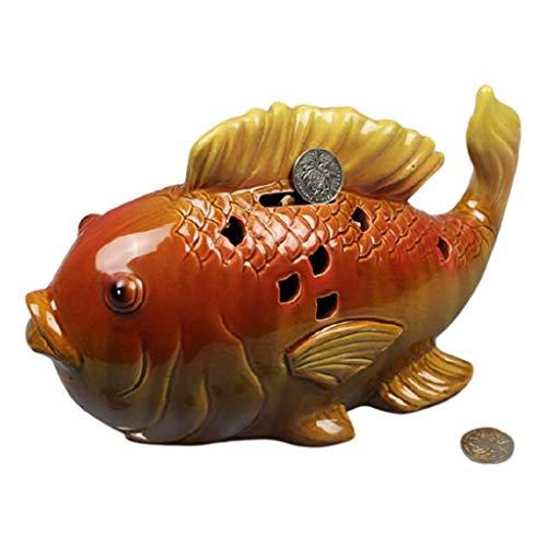 Huchas Carp Money Bank, Ceramics HOTGY Bank Creatividad Puede SALDAR HIGHTHERS, ADNELES DE Lucky Band DE Moneda DE Regalo Caja de Monedas (tamaño : Grande)