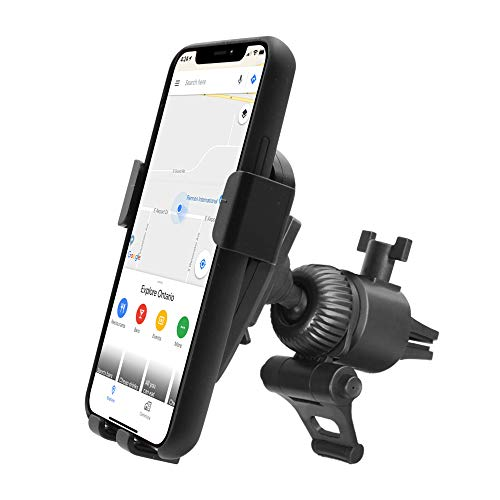 Car Vent Phone Holder Mount, Macally Gravity Car Phone Mount with Auto Clamping and Super Strong AC Clip for iPhone 11 Pro XR XS Max X 8 7 Plus Samsung S10+ Note 9 S8 Plus S7, etc.