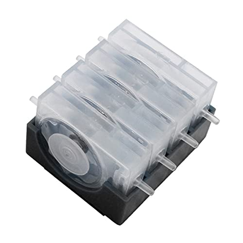 Válvulas de Control de la válvula de una Manera única de una Manera Cisne Sistema de Suministro de Tinta Continuo amortiguadores for Canon HP Impresora de Hermano Epson (Color : 4 Color)