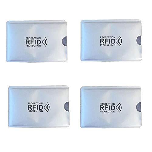 KRS 4xRFI Schutzhülle Schutz RFID NFC für Kreditkarten EC Karten RFID Blocker (4 Stück)