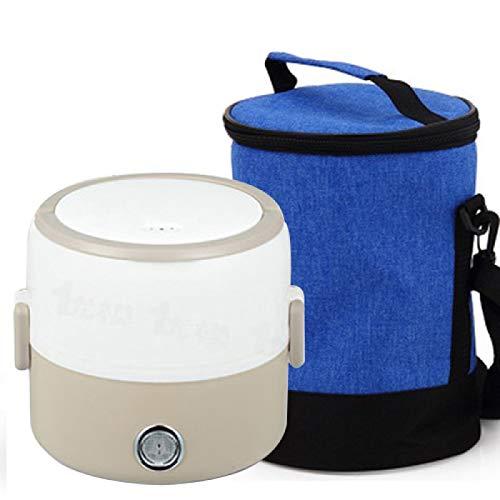 ZQJKL Caja Bento Eléctrica Caja De Almuerzo con Bolsa De Almacenamiento Mini...