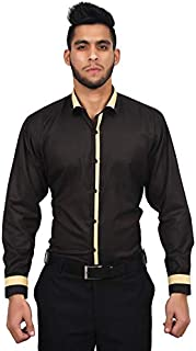 The Mods Men's Formal Black Color Shirt